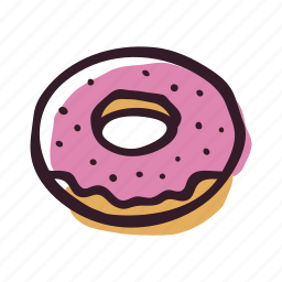 bakery, breakfast, doughnut, food, pastry, snack icon