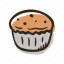 bakery, breakfast, cupcake, food, pastry, snack, sweet icon