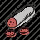 beef, food, meal, meat, pork, salami, sandwich