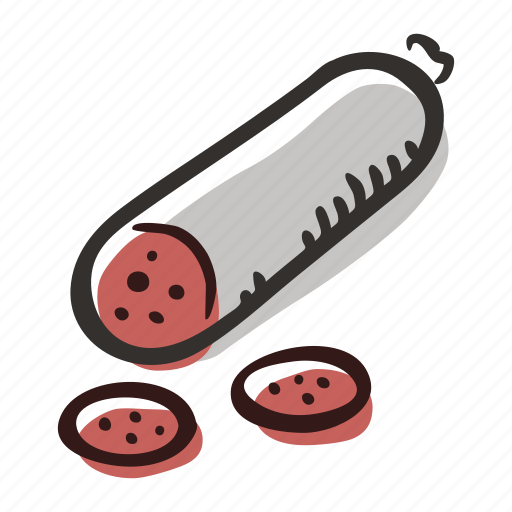 beef, food, meal, meat, pork, salami, sandwich icon