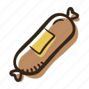 beef, food, liver sausage, meal, meat, pork, sandwich icon