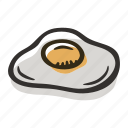 breakfast, egg, food, fried egg, meal icon