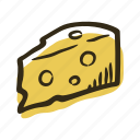 cheese, cooking, cow, healthy, milk, salad, sandwich icon