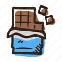 chocolate, chocolate dark, chocolate milk, cocoa, semisweet, sweet icon