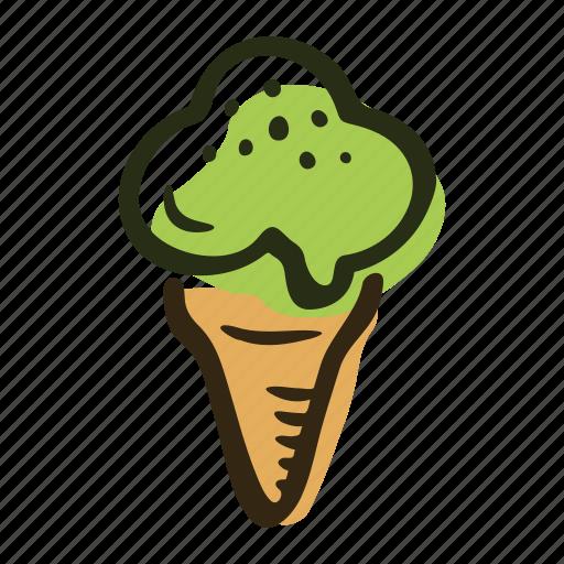 beach, dessert, ice cream, ice cream cone, summer, sweet icon