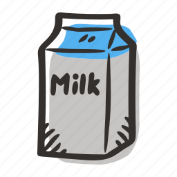 breakfast, cow, healthy, milk, milk carton, milk product icon