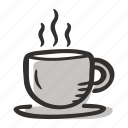 break, cafe, coffee, cup of coffee, espresso, hot coffee, restaurant