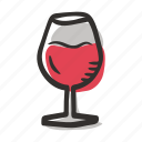 celebration, glass of wine, meal, party, red wine, white wine, wine icon