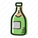 alcohol, bottle, celebration, champagne, party, wine icon