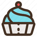 bakery, cake, pastry, tasty icon