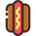 bread, dog, food, hot, sausage icon