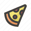 beverages, drink, food, meal, piece, pizza, slice icon