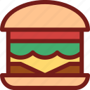 burger, drink, food, hungry, meal, water icon