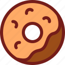 doughnout, drink, food, hungry, meal, water icon