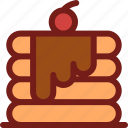 drink, food, hungry, meal, pancake, water icon