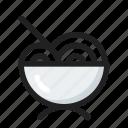 food, line, noodle, round