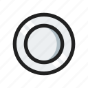 food, line, plate, round icon
