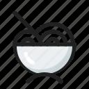 filled, food, line, noodle, round