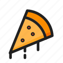 filled, food, line, pizza, round icon