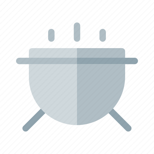 barbeque, food, round icon