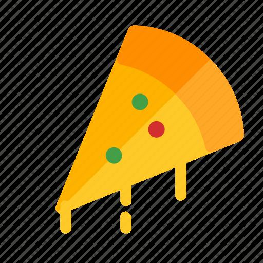 food, pizza, round icon