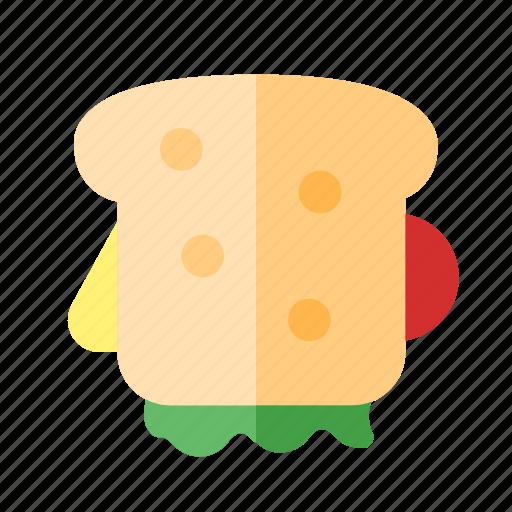 food, round, sandwich icon