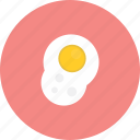 delicious, eat, egg, food, fried icon