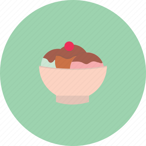 bowl, cream, delicious, food, ice icon