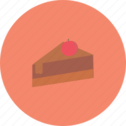 cake, chocholate, delicious, food, of, slice icon