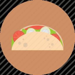 delicious, eat, food, tachos icon