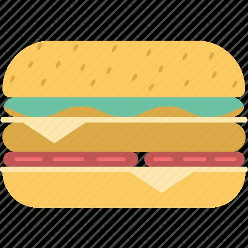 burger, cheeseburger, eating, fast food, junk food, snack food icon