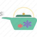 hot tea, kettle, steam, tea, teakettle, teapot icon