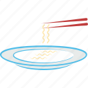 eating utensil, fork, noodles, spaghetti, spaghetti in plate, vermicelli icon