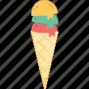 cone, cup cone, ice cone, ice cream, snow cone icon