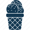 dessert, frozen dessert, ice cream, ice cream cup, sweet food icon