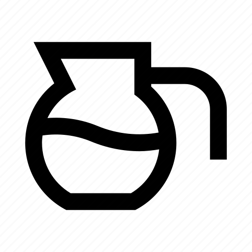 coffee, decanter, kettle, water icon