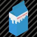 dairy product, milk container, milk pack, organic milk, tetra milk pack icon
