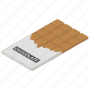 choco, chocolate, dessert, sweet chocolate bar, sweet food icon