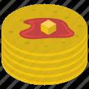 delicious pancake, flapjack, flat cakes, griddle cake, hot cake icon