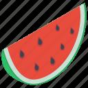 food, fruit, juicy fruit, sweet watermelon slice, watermelon icon