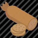 banger, frankfurter, hotdog, raw sausages, wurst icon