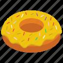 dessert, donut, doughnut, glazed donut, krispy kreme icon