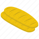 bread, dinner roll, french stick, loaf, loaf baguette icon