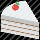bakery food, cake piece, cake slice, dessert, sweet food icon