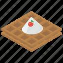 cream waffle, dessert, fast food, sweet food, wafer icon