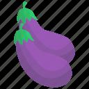 aubergine, brinjal, diet food, organic eggplant, vegetable icon