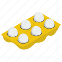 chicken egg, dairy, eggs tray, ingredient, protein icon