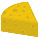 cheddar cheese, cheese slice, cheesecake slice, dairy product, organic cheese icon