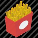 cinema snacks, french fries, french potato fries, frites, potato fries, snacks icon