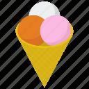 dessert, ice cream, ice cream cone, ice cream scoops, sweet icon
